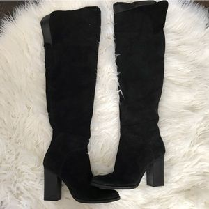 Dolce vita over the knee boots in black